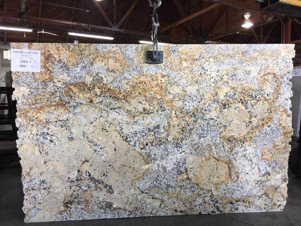 Golden Fantasy Polished Granite Slabs