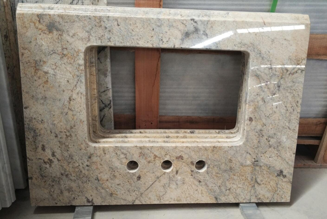 Golden Flower Granite Polished Granite Vanity Top