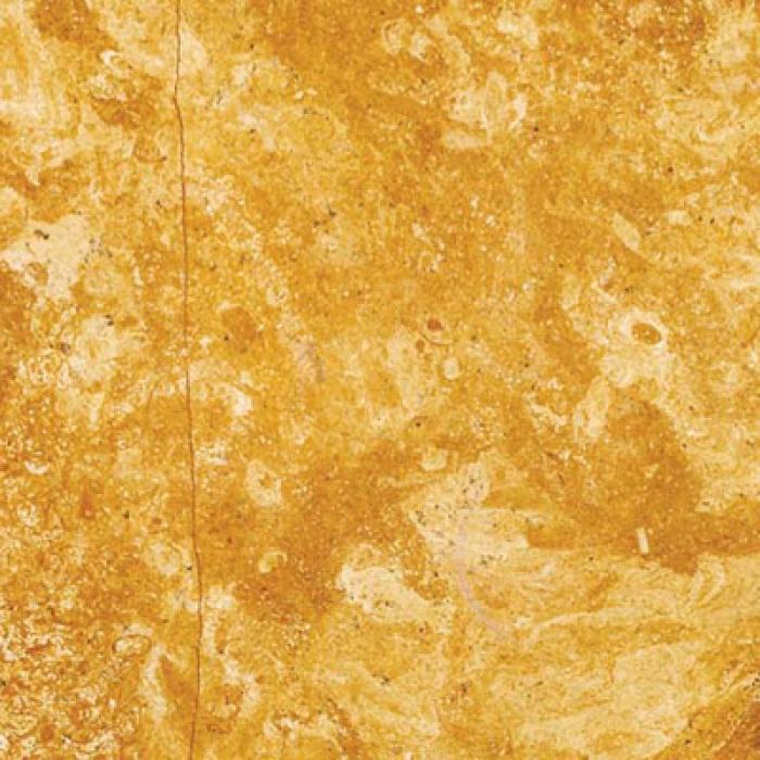 Golden Flower Marble Polished