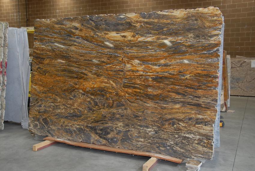Golden Lumiere Granite Slabs Brown Polished Granite Stone Slabs