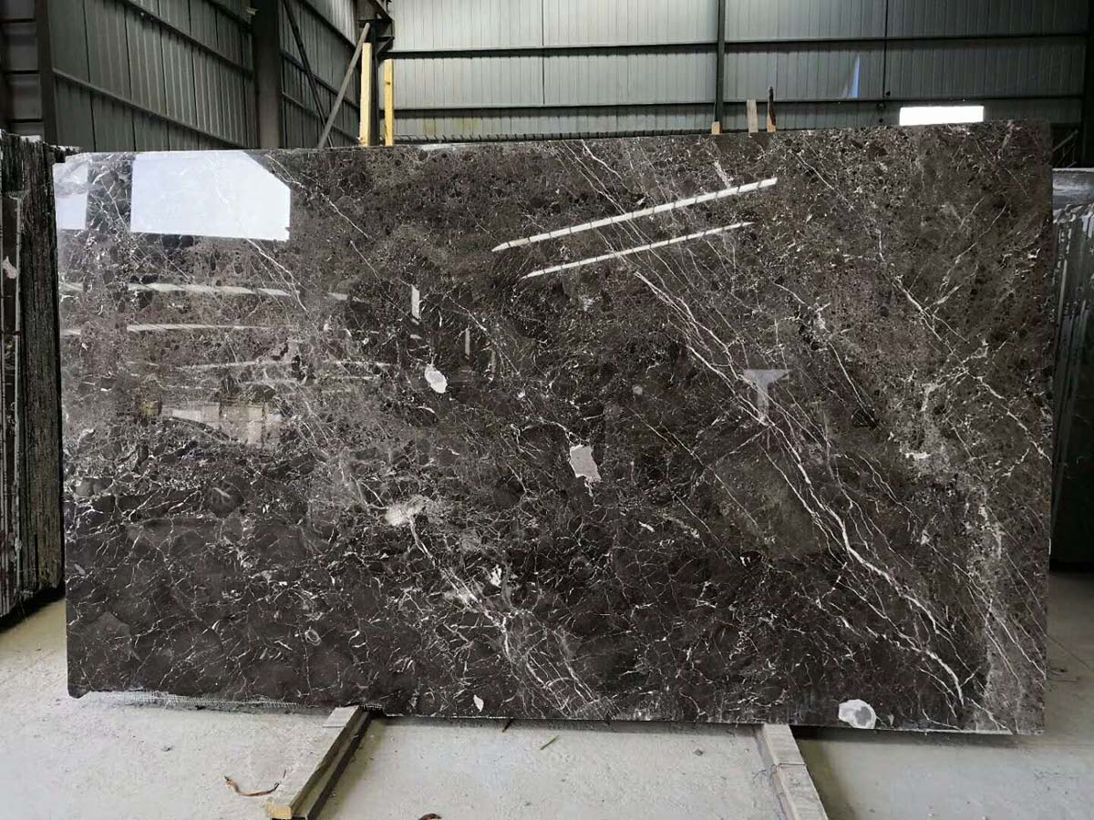 Golden Net Marble Slabs Coffee Net Marble