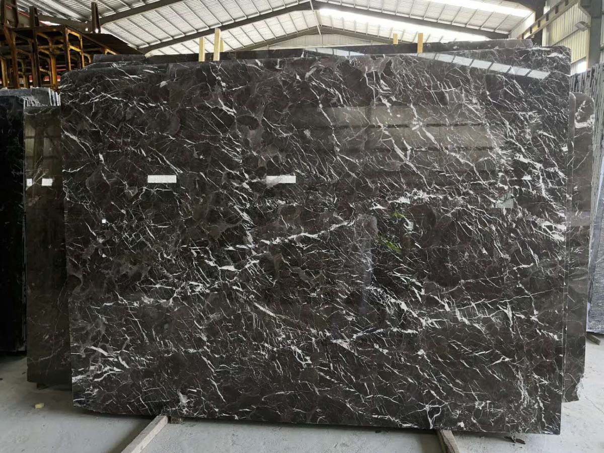 Golden Net Marble Slabs New Brown Marble