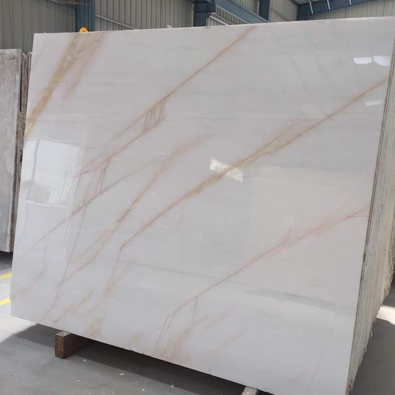 Golden Spider Marble Polished Beige Marble Slabs
