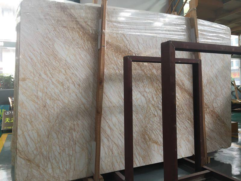 Golden Spider Polished Marble Slabs with High Quality