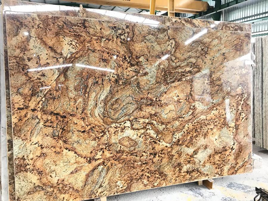 Golden Storm Granite Slabs Polished Brown Granite Slabs