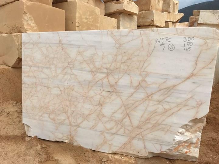 Golden White Marble Natural Marble Blocks