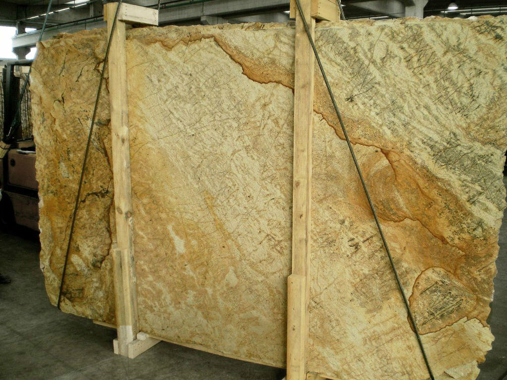 Golden Wood Granite Slabs Yellow Polished Granite Slabs