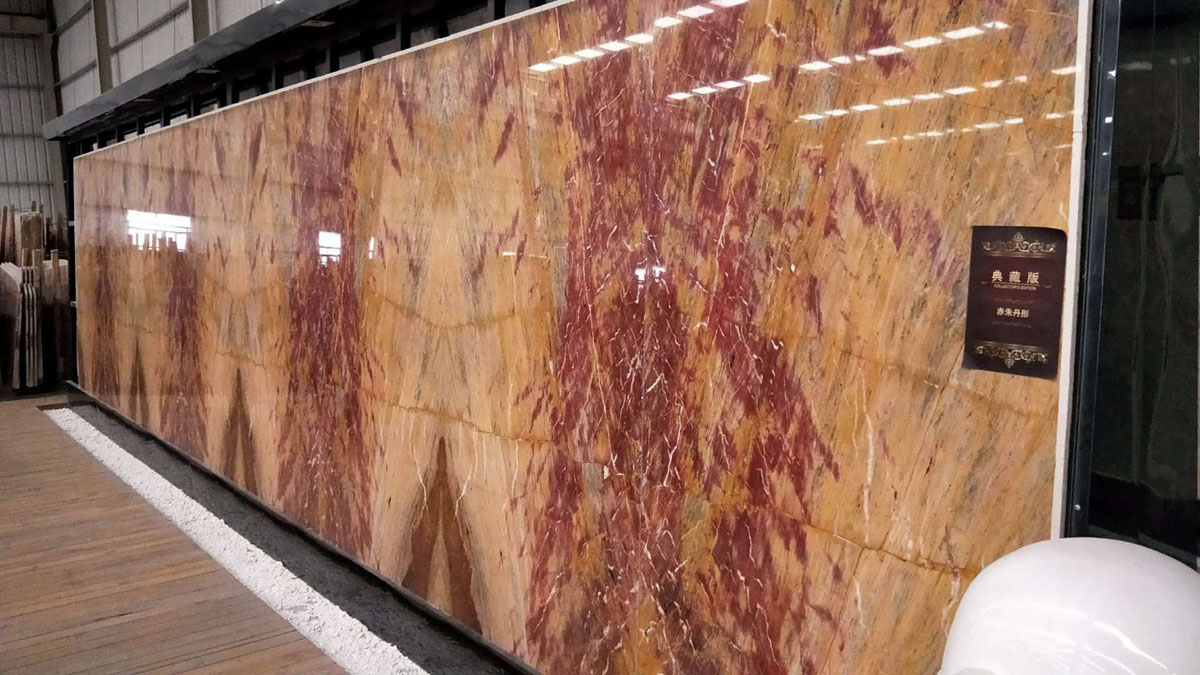 Good Quality Dragon Red Marble Slabs for Walling