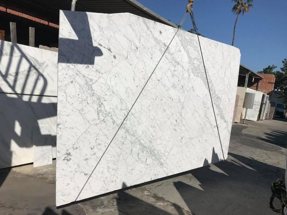 Gorgeous Statuario White Marble Slabs Polished White Italian Marble Slabs