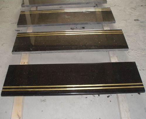Granite Step Polished Black Granite Stone Steps