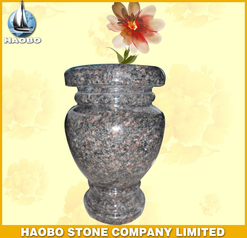 Granite Vase for Tombstone HBV001