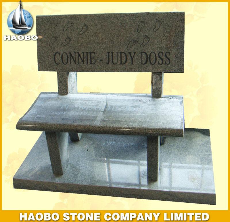Gray Granite Memorial Bench HBMB005