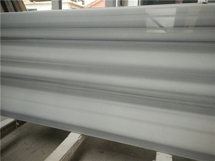 Greece Vertical Stripe White Marble Slabs Polished Marble Slabs