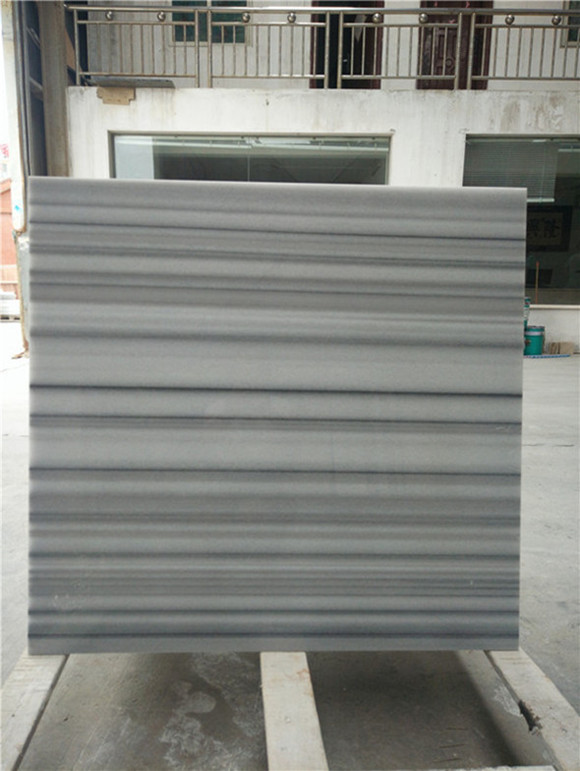 Greece Vertical Stripe White Marble Tiles