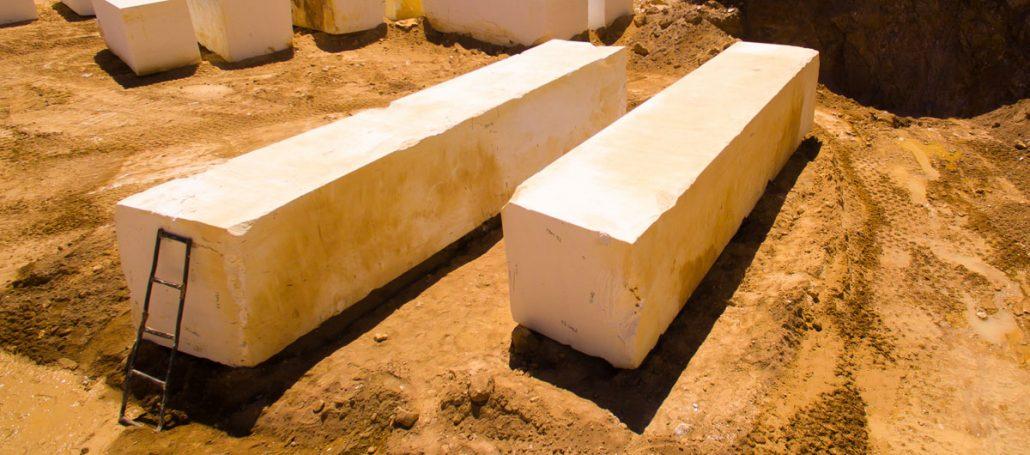 Greece thassos white marble blocks