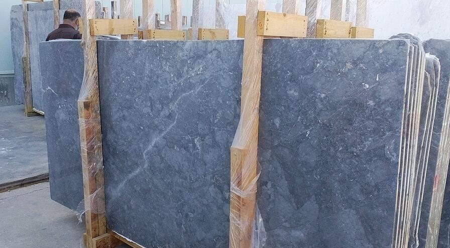 Greek Evia grey marble slabs