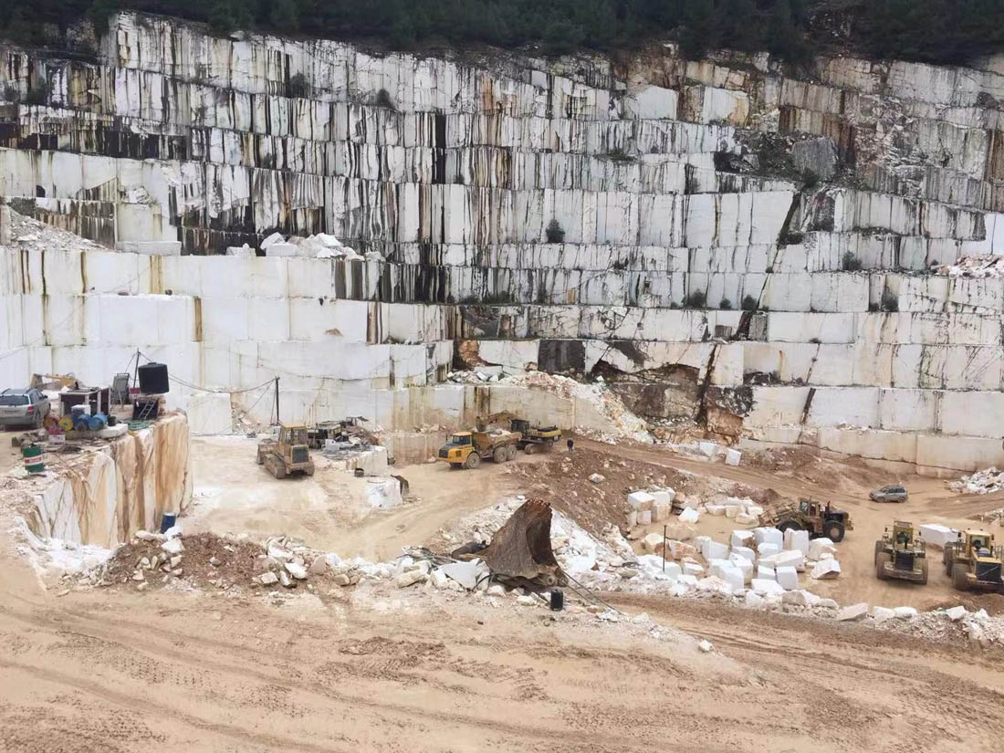 Greek Marble Quarry Thassos White Marble Blocks