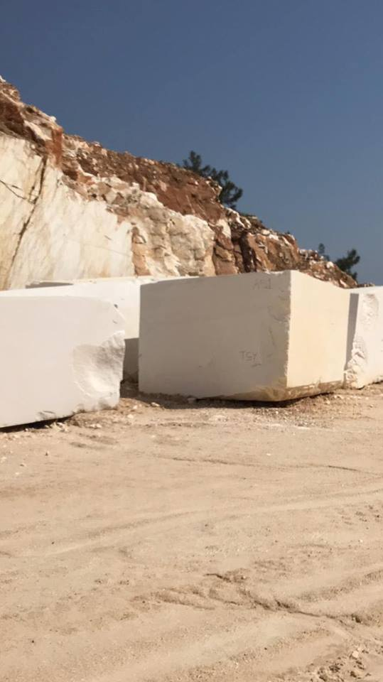 Greek Thassos Block Natural White Marble Blocks