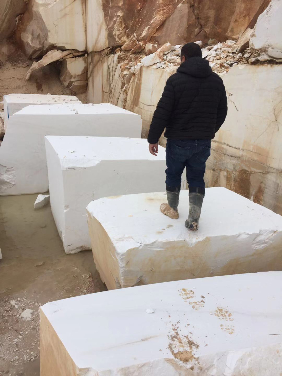 Greek Thassos White Marble Blocks Natural White Stone Blocks