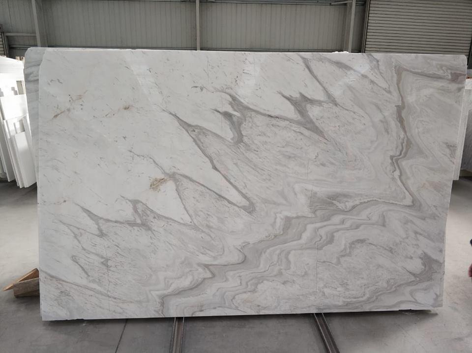 Greek White Marble Slabs Volakas Wave Slabs