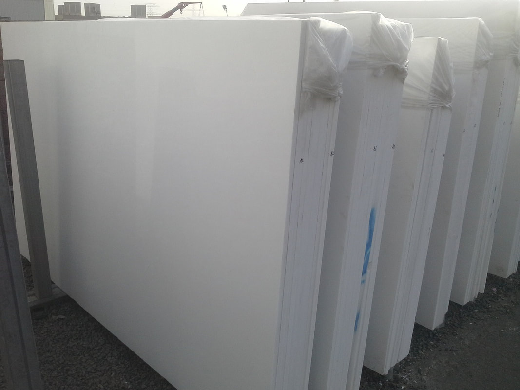 Greek White Marble Thassos White Polished Marble Stone Slabs
