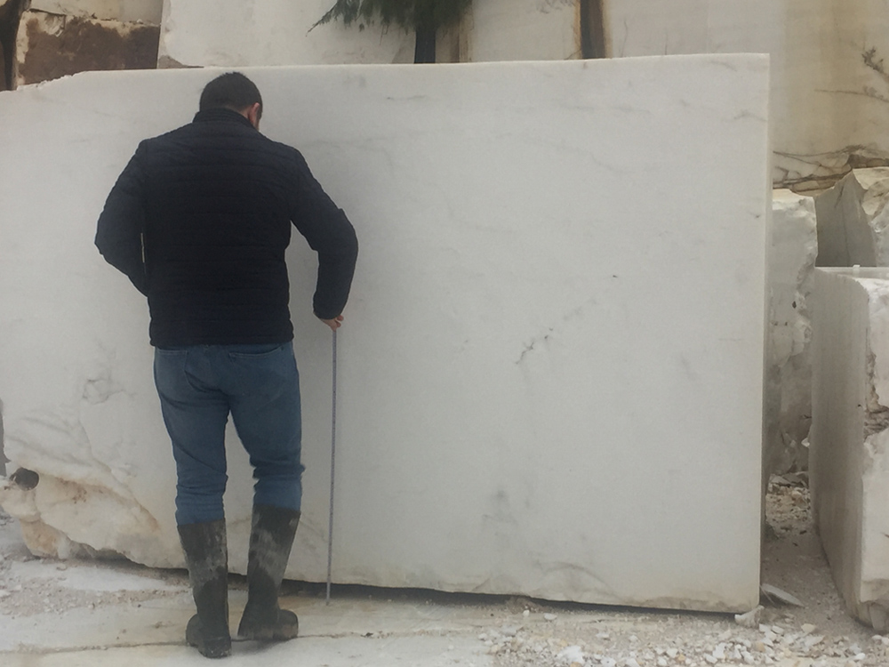 Greek White Marble Thassos White Stone Blocks for Export