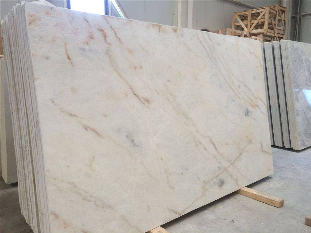 Greek Yellow Whitish Polished Marble Slabs