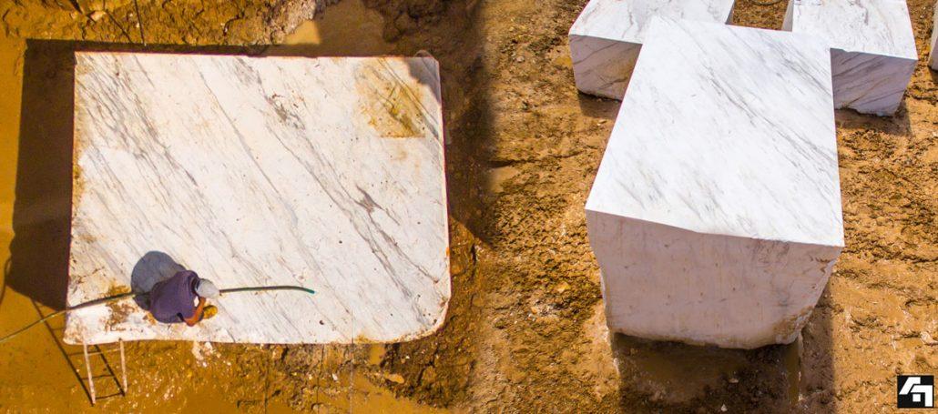 Greek volakasa marble block