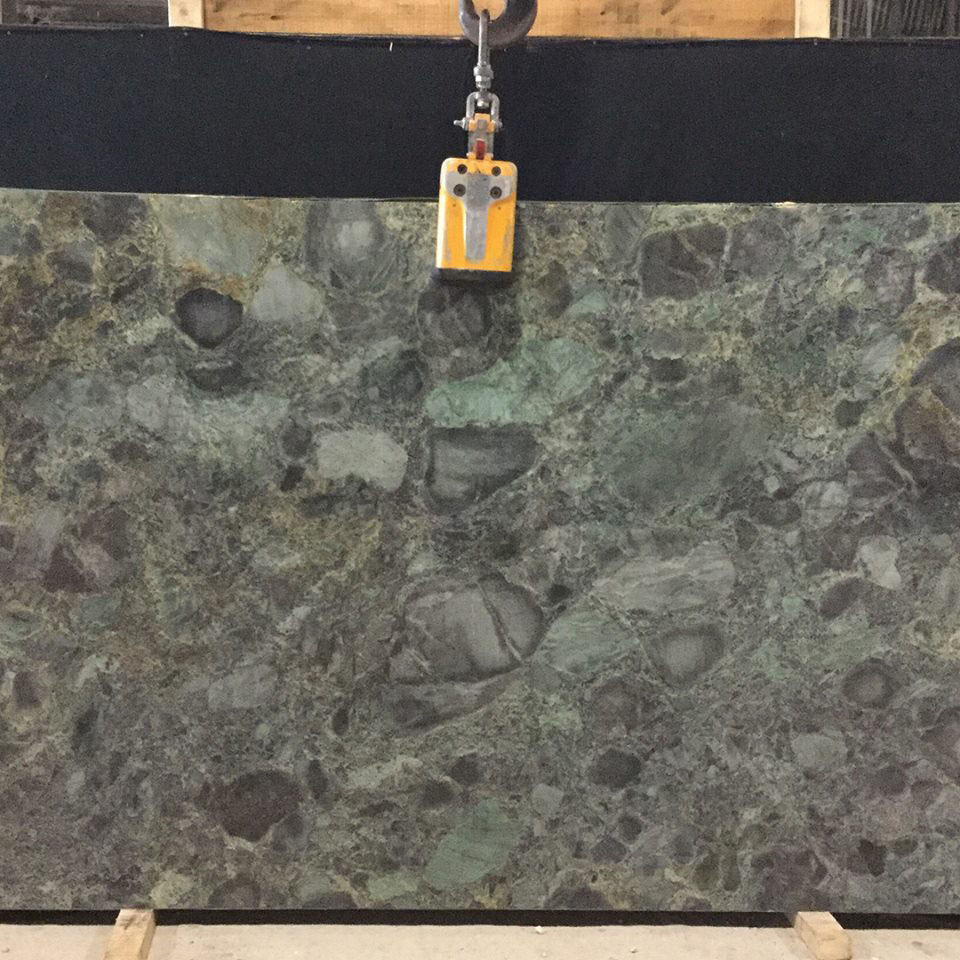 Green Emerald Quartzite Slabs from Brazil