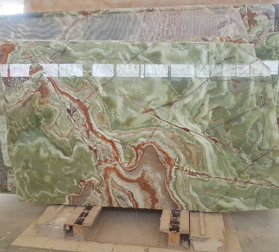 Green Onyx Polished Slabs from Pakistan