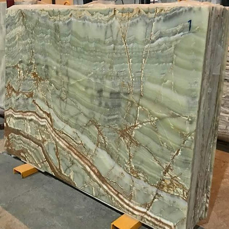 Green Onyx Polished Translucent Slabs from Pakistan