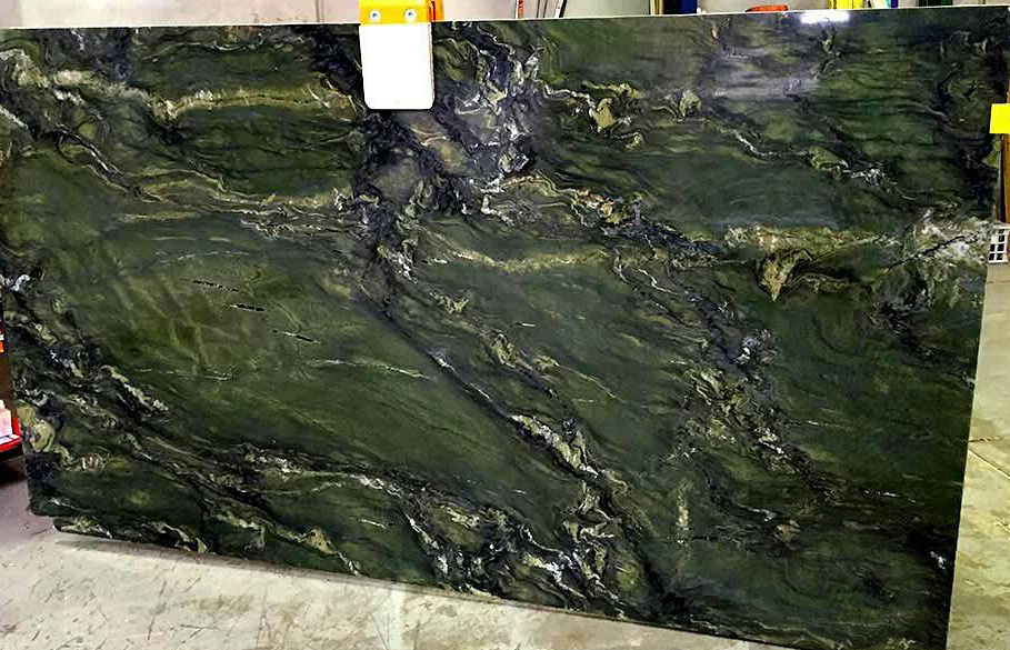 Green Piccasso Granite Slabs Polished Granite Stone Slabs from Iran
