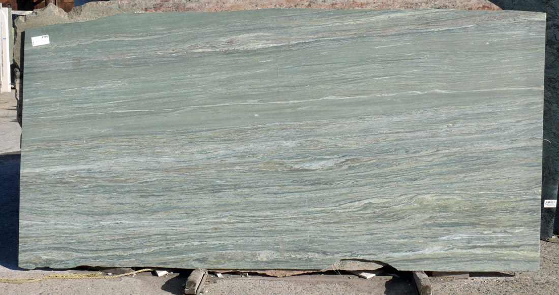 Green River Granite Slab Green Leather Brazil