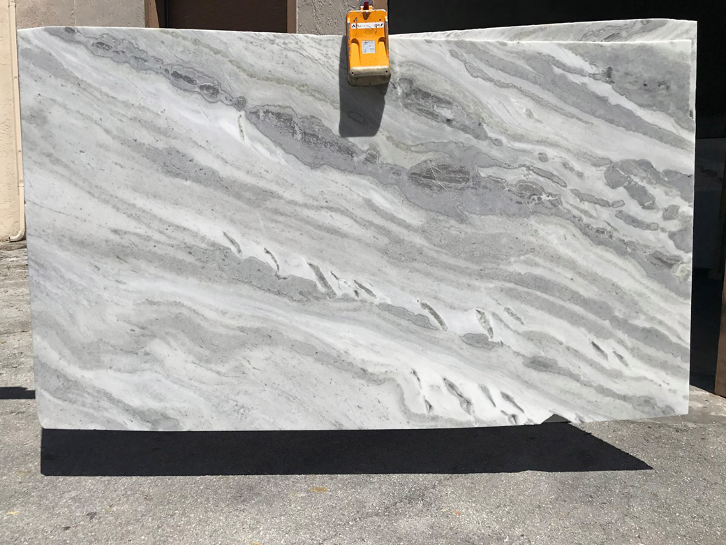 Grey Brazilian Quartzite Mont Blanc Quartzite Slabs