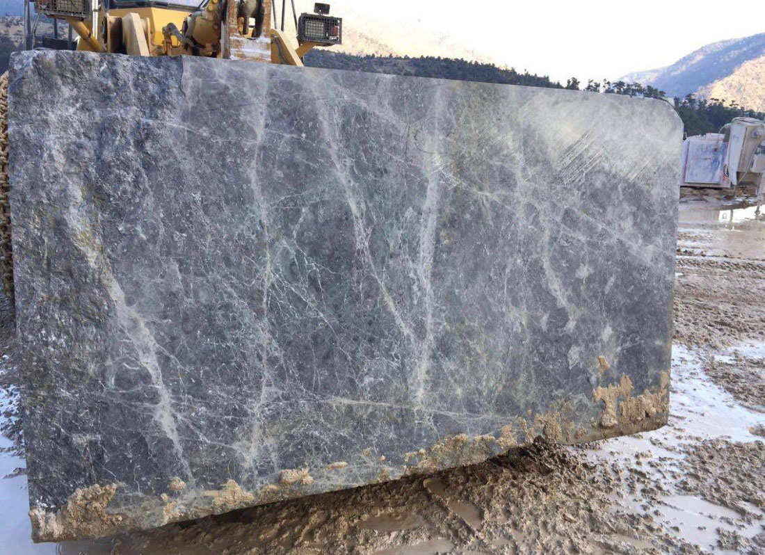 Grey Emprador Marble Natural Stone Blocks