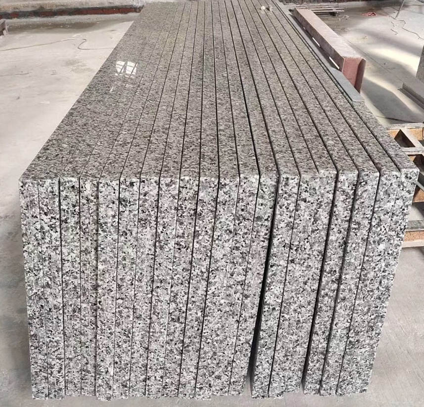 Grey Granite Countertops Polished Grey Prefabricated Countertops