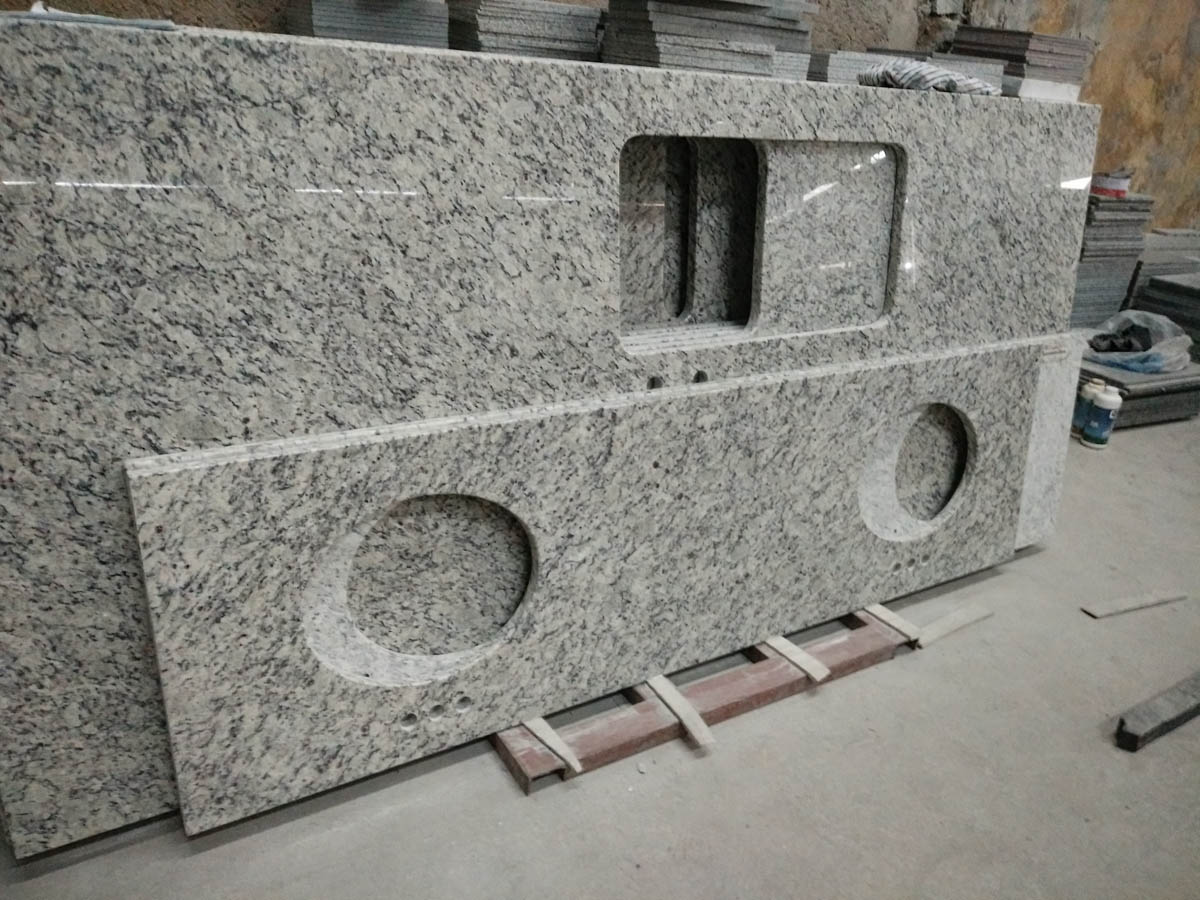 Grey Granite Kitchen Countertops