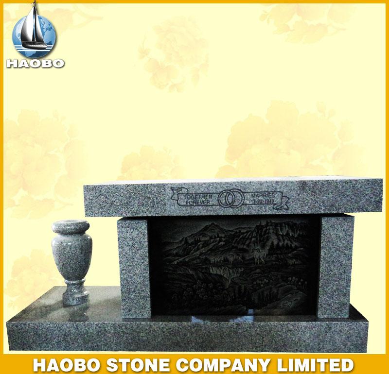 Grey Granite Memorial Bench HBMB003