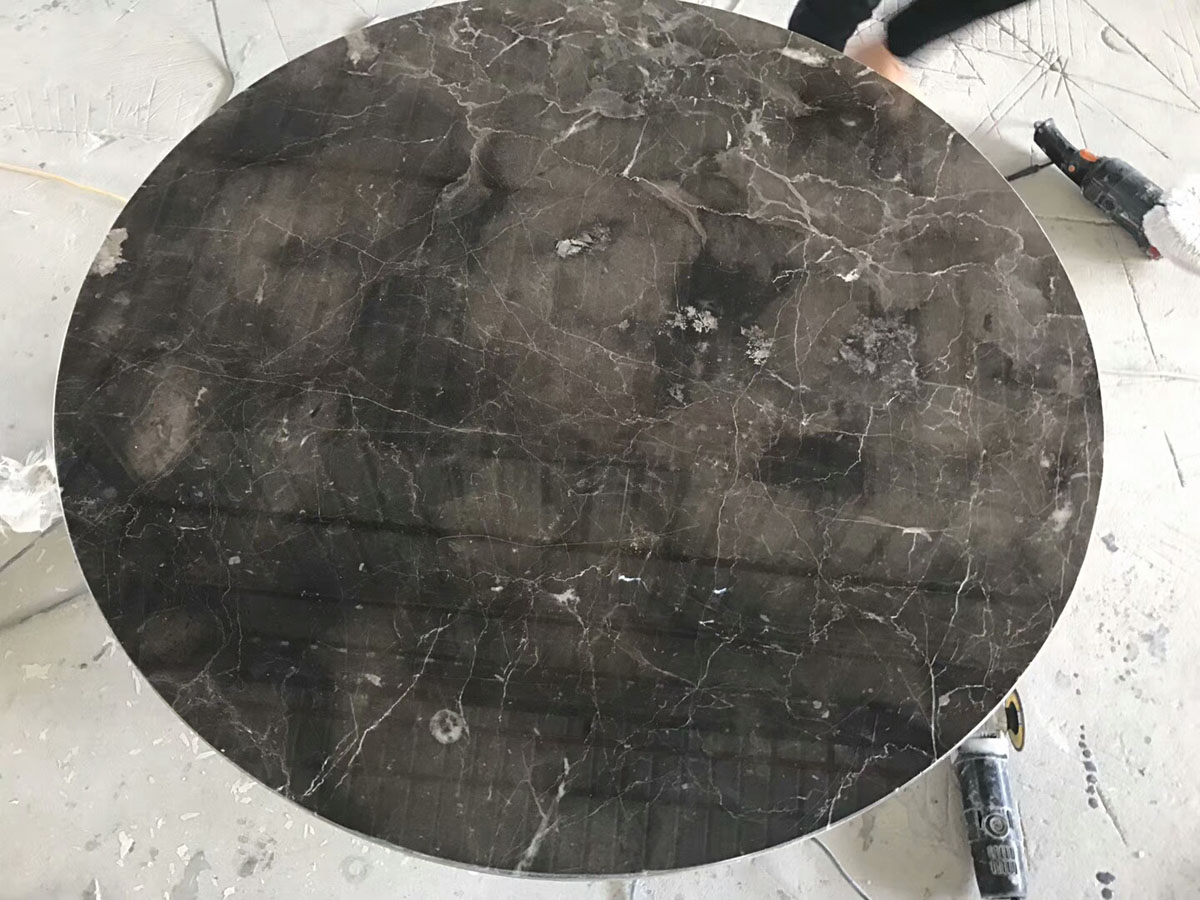 Grey Marble Round Table Countertop