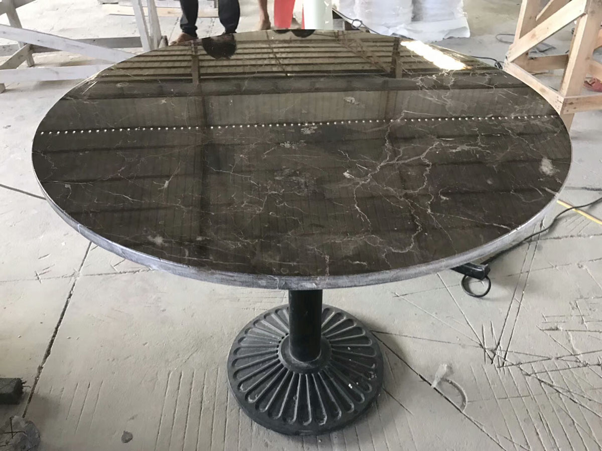China Dark Emperador Marble, Grey Marble Table Countertop