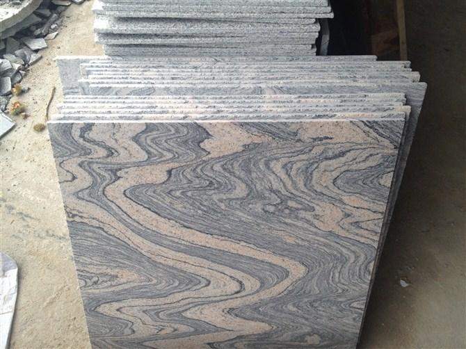 Grey Polished Granite Tiles Hubei Juparana Granite Tiles