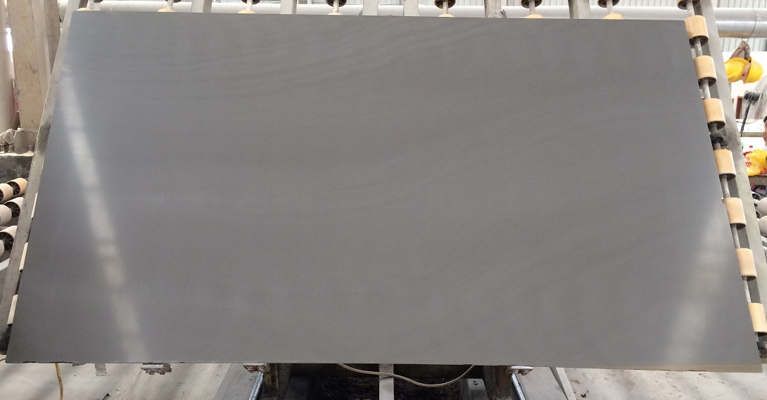 Grey Polished Metallic Sandstone Slabs
