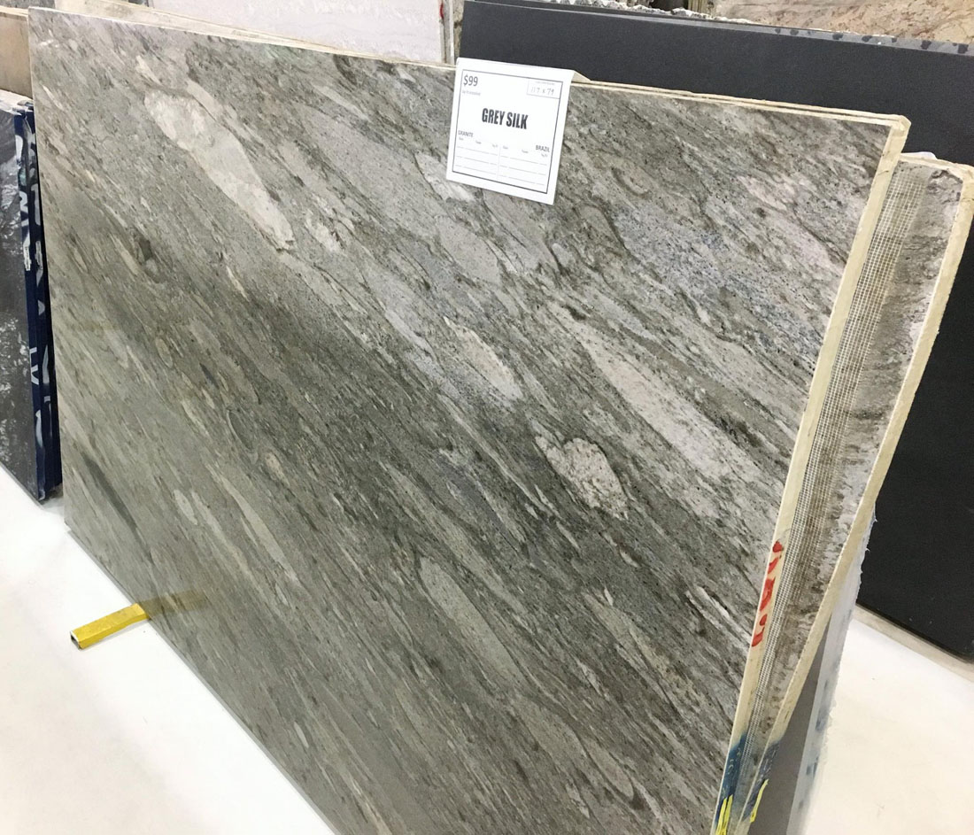 Grey Silk Granite Full Slab with Top Quality