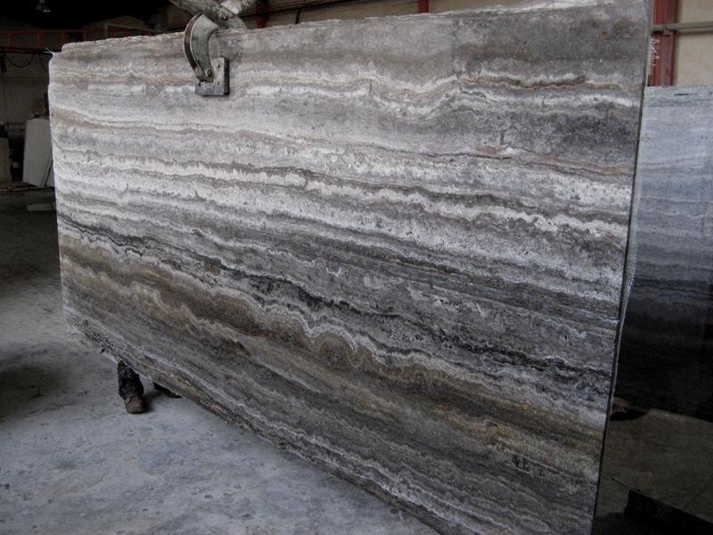 Grey Travertine Slabs Persian Silver Travertine Slabs