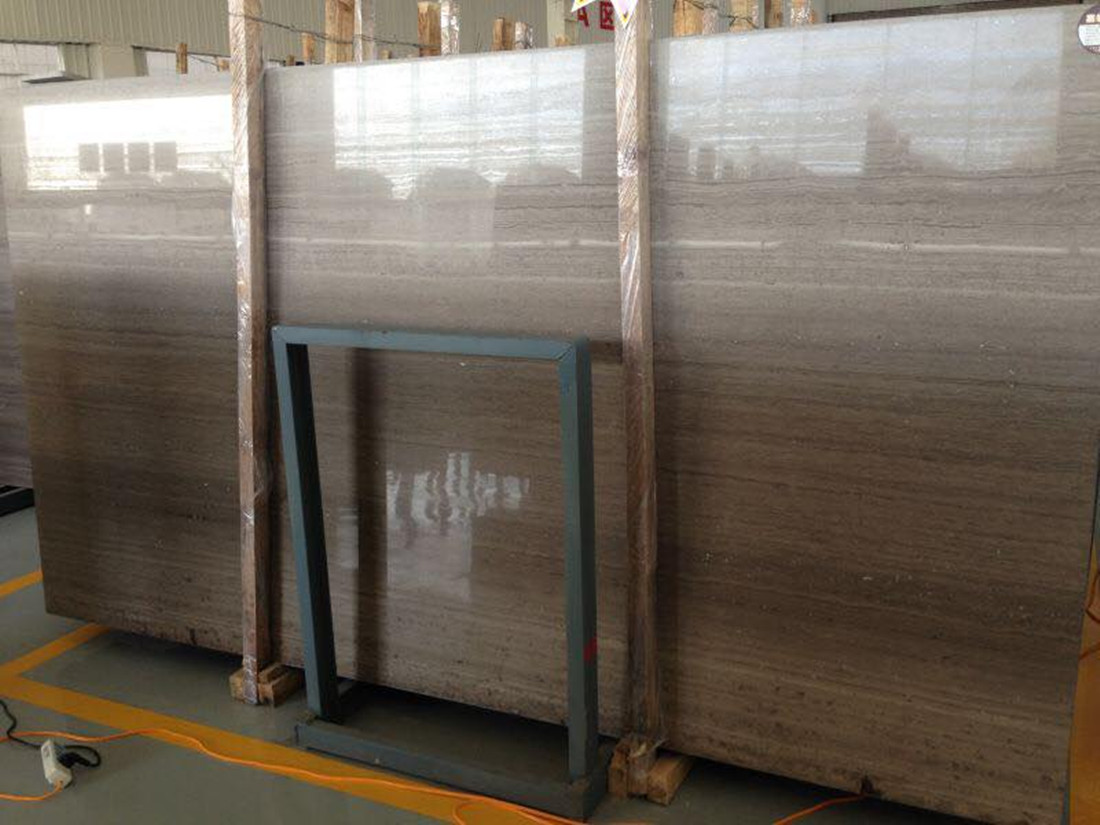 Grey Wood Grain Marble Slabs Chinese Polished Marble Slabs