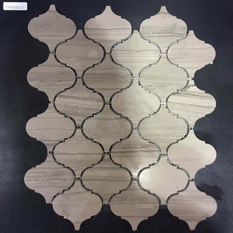 Grey Wood Marble Mosaic