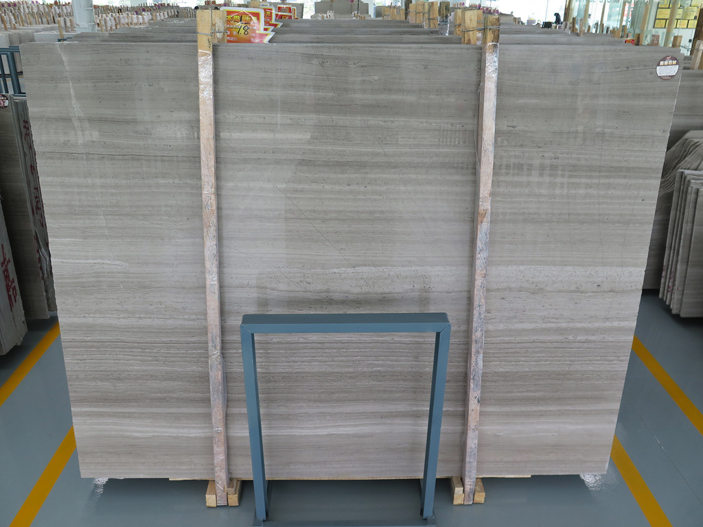 Grey Wooden Marble Polished Grey Marble Slabs