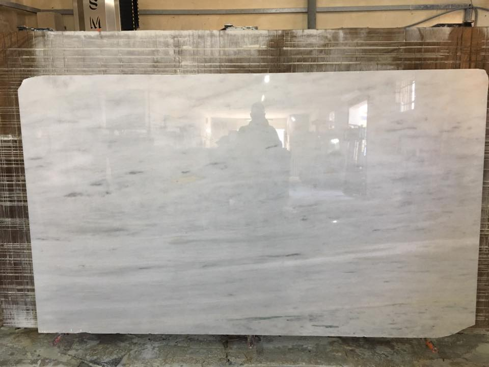 Grigio Bello Marble Slabs Polished White Marble Slabs