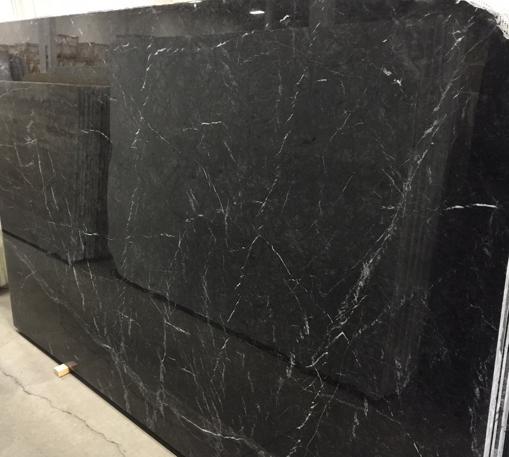 Grigio Carnico Marble Slabs Polished Black Marble Slabs