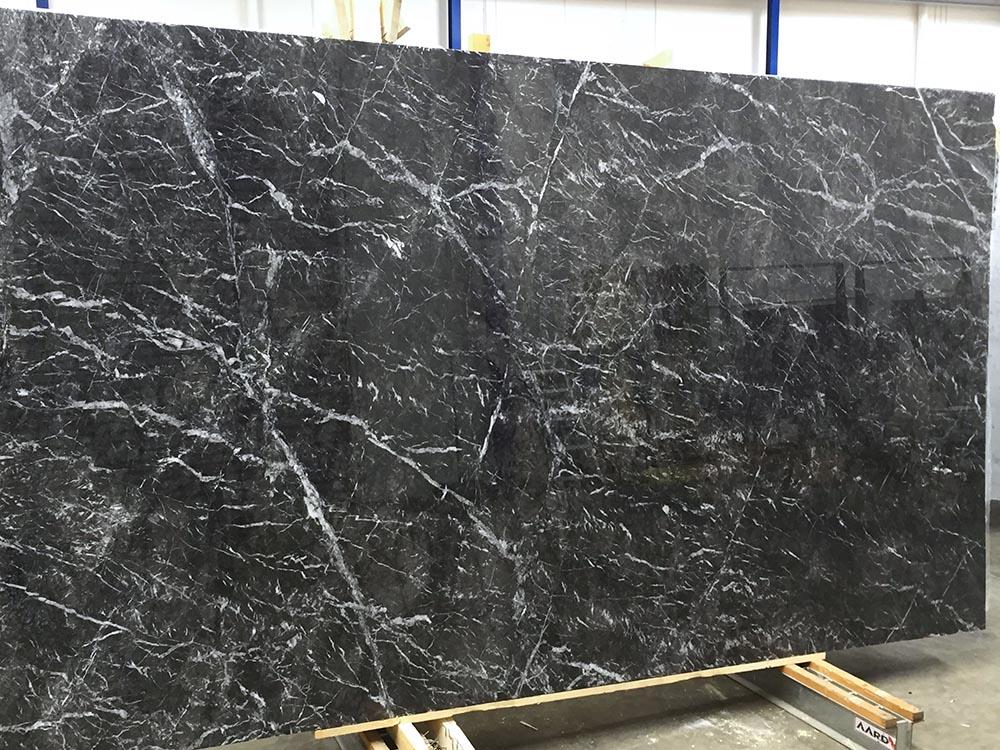 Grigio Carnico Slab Italian Polished Black Marble Stone Slabs